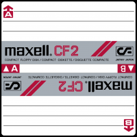 Maxell 3 inch disk label