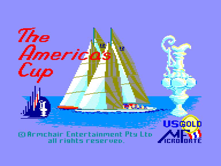 screenshot du jeu Amstrad CPC America's cup challenge