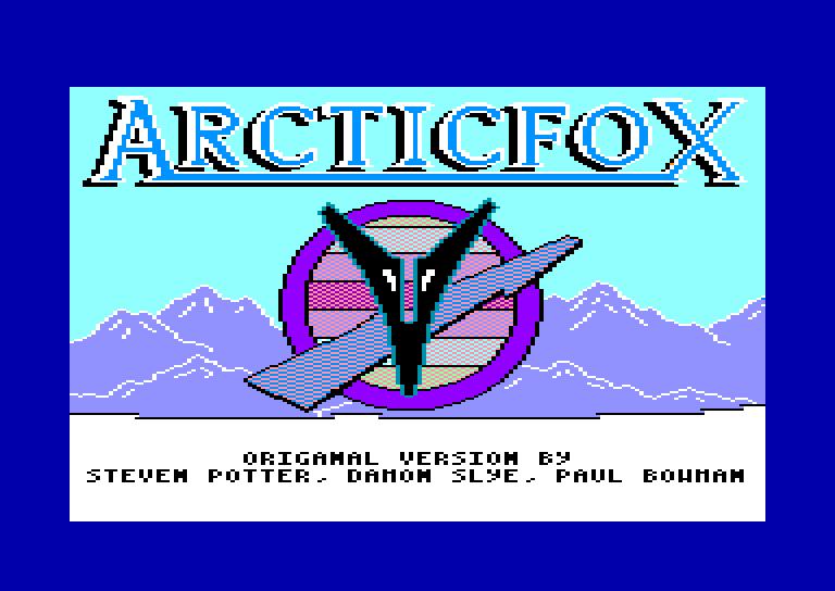 screenshot du jeu Amstrad CPC Arcticfox