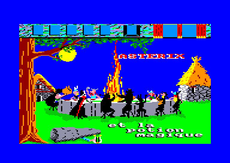 screenshot of the Amstrad CPC game Asterix et la potion magique