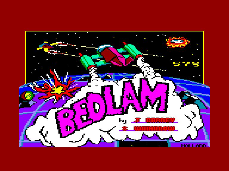 screenshot du jeu Amstrad CPC Bedlam
