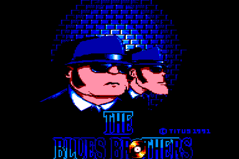 screenshot of the Amstrad CPC game Blues brothers (the)