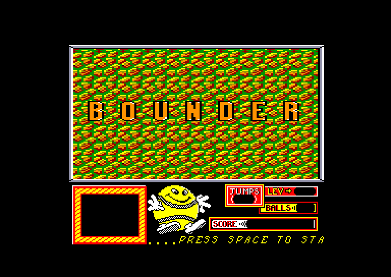screenshot of the Amstrad CPC game Bounder