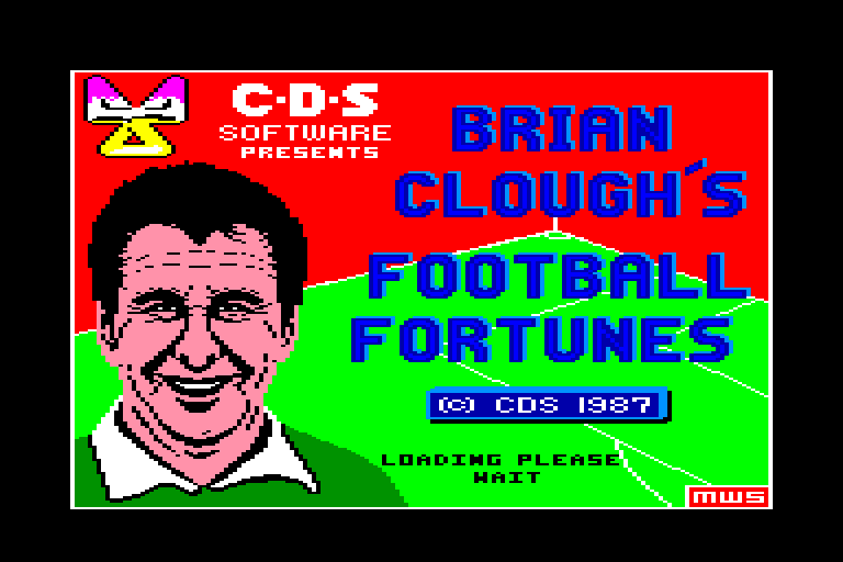 screenshot of the Amstrad CPC game Brian clough's football fortunes