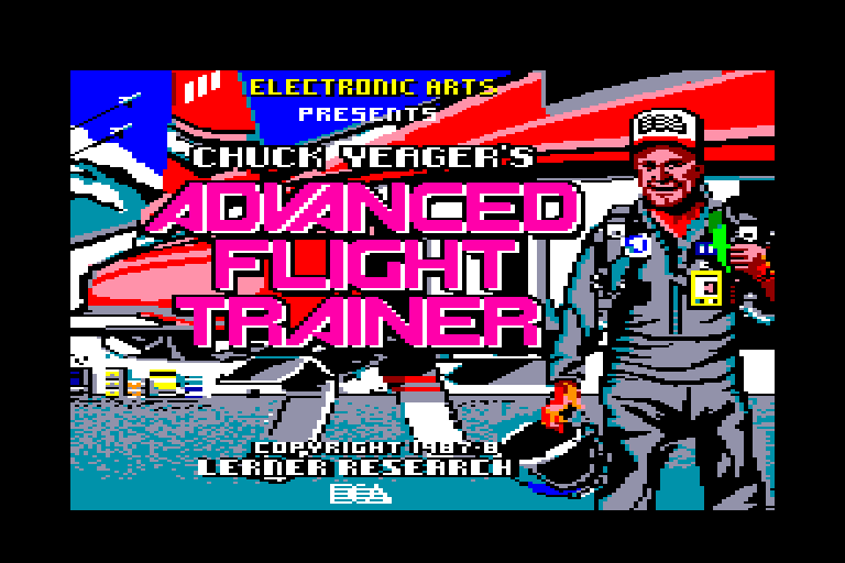 screenshot of the Amstrad CPC game Chuck yeager's advanced flight trainer