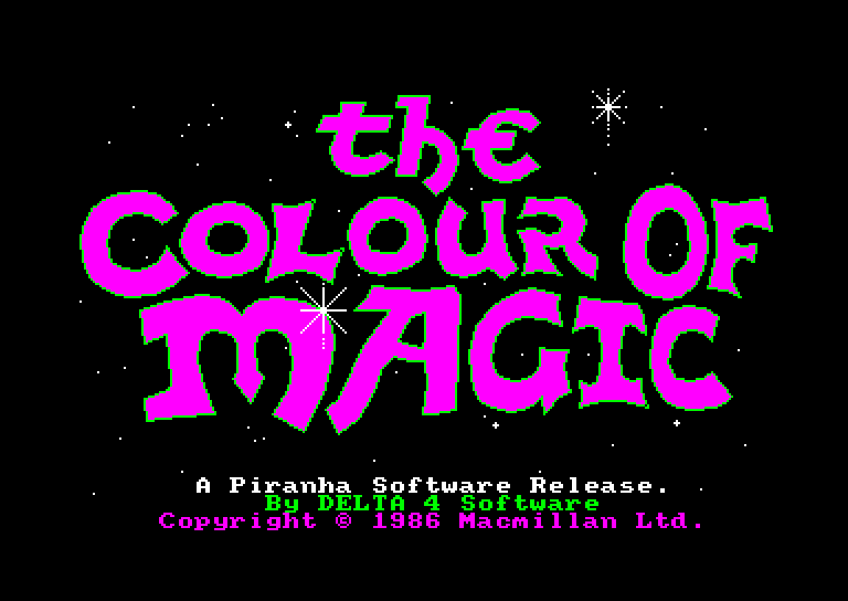 screenshot of the Amstrad CPC game Colour of magic (the)