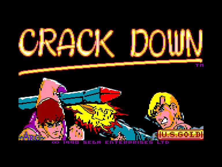 screenshot du jeu Amstrad CPC Crack down