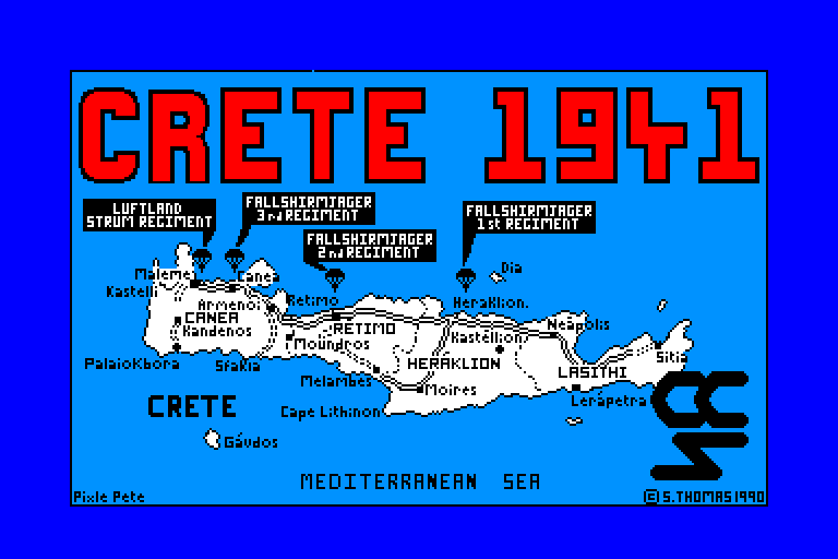 screenshot of the Amstrad CPC game Crete 1941