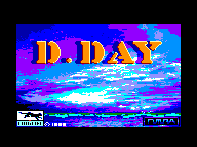 screenshot of the Amstrad CPC game D-day