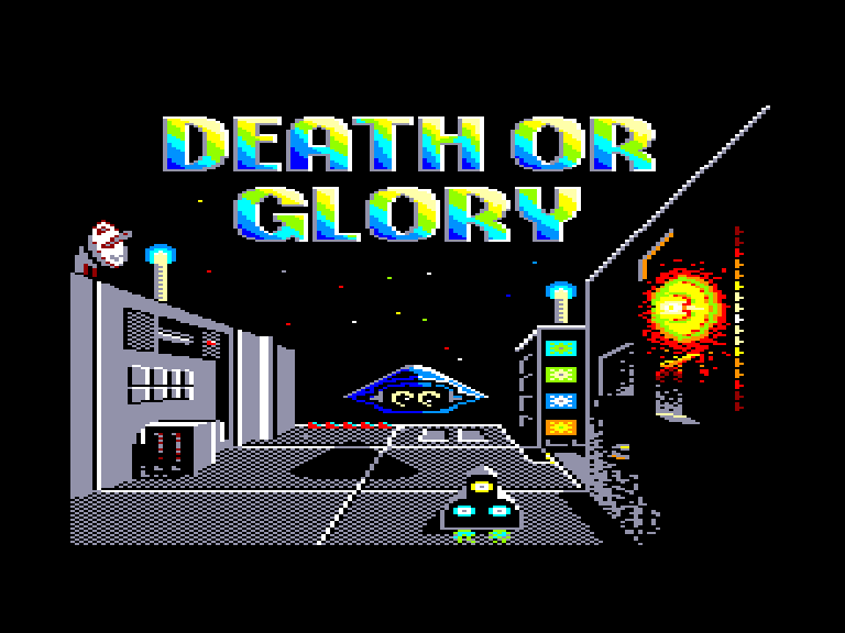 screenshot of the Amstrad CPC game Death or glory