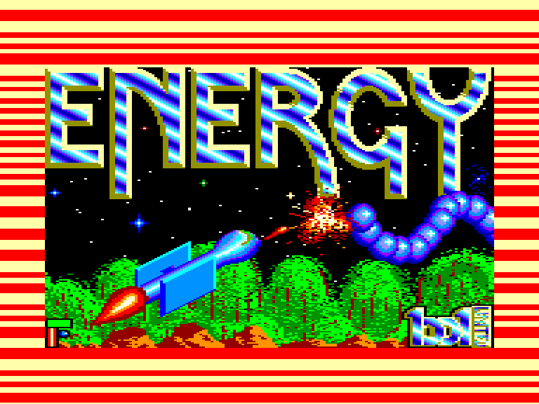 screenshot of the Amstrad CPC game Energy warrior