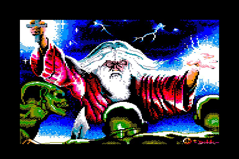 screenshot du jeu Amstrad CPC Enlightenment - Druid II