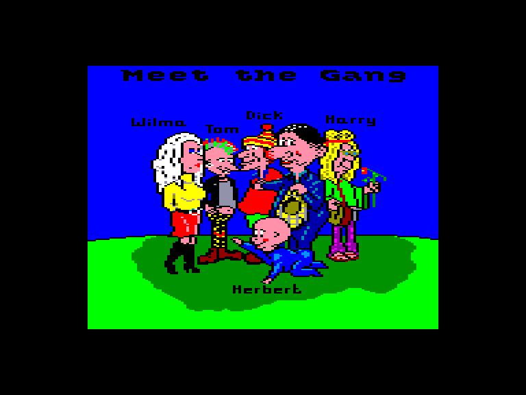 screenshot du jeu Amstrad CPC Everyone's a wally