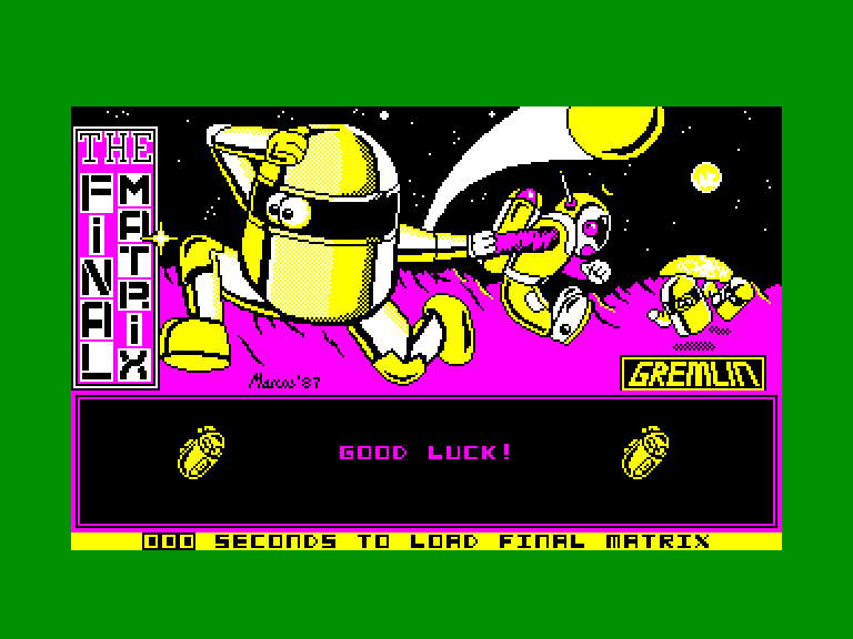 screenshot of the Amstrad CPC game Final matrix (the)