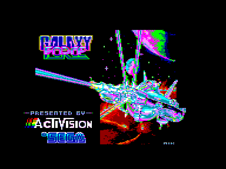screenshot of the Amstrad CPC game Galaxy force