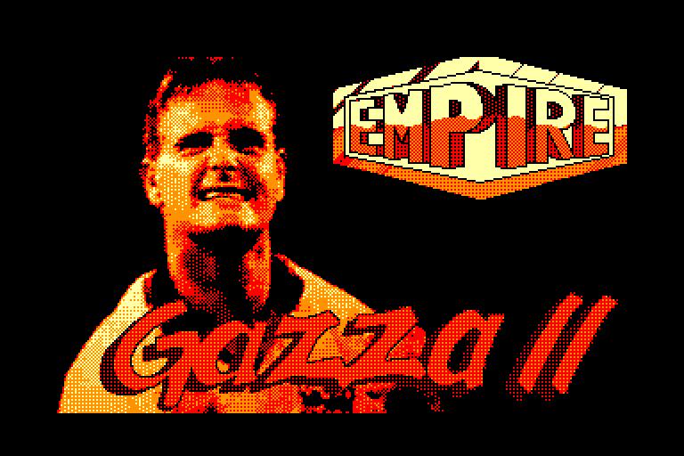 screenshot of the Amstrad CPC game Gazza II