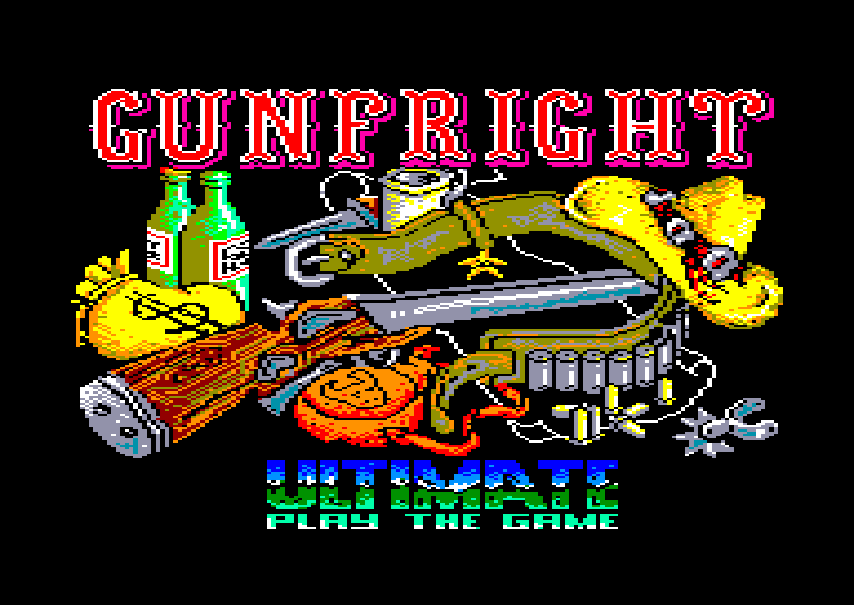 screenshot of the Amstrad CPC game Gunfright