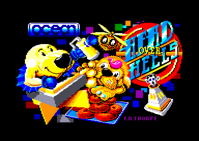 loading screen of the Amstrad CPC game Head over Heels