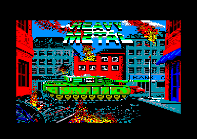 screenshot of the Amstrad CPC game Heavy metal