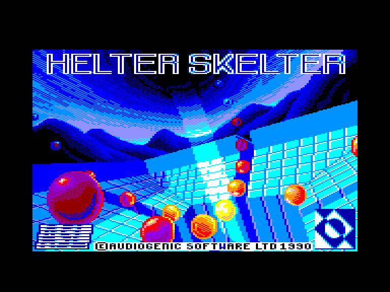 screenshot of the Amstrad CPC game Helter skelter