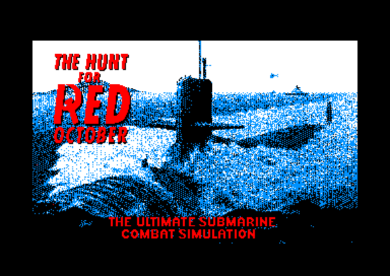 screenshot of the Amstrad CPC game Hunt for red october / jagd auf roter oktober