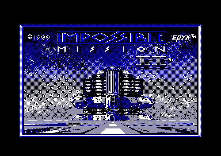 screenshot du jeu Amstrad CPC Impossible Mission II