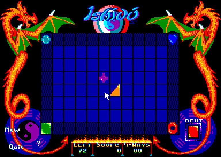 screenshot du jeu Amstrad CPC Ishido
