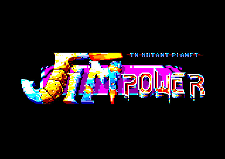 screenshot of the Amstrad CPC game Jim power