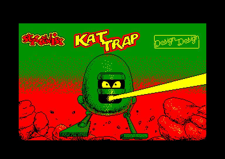 screenshot of the Amstrad CPC game Kat trap