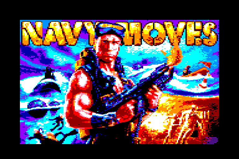 loading screen of the Amstrad CPC game Navy Moves