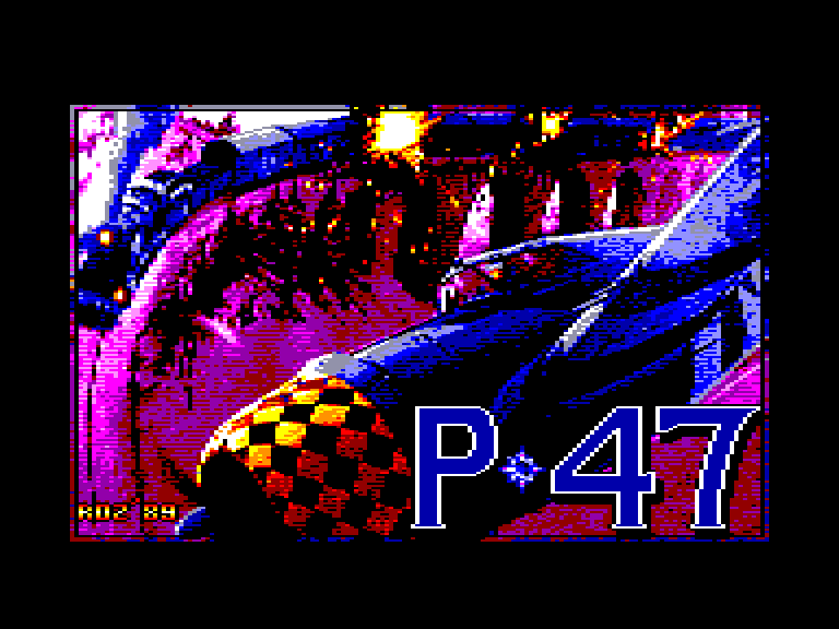 screenshot of the Amstrad CPC game P47 Thunderbolt