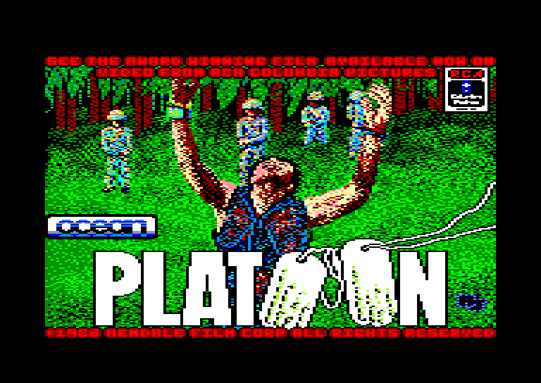 screenshot of the Amstrad CPC game Platoon