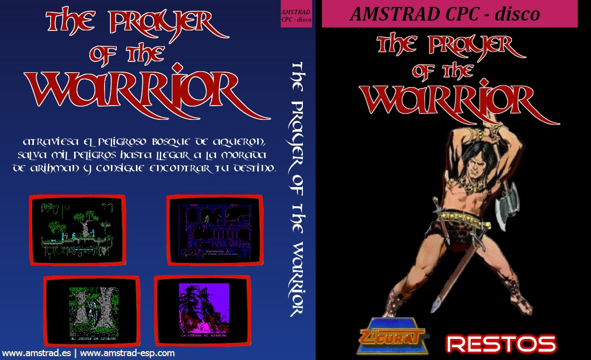 cover of the Amstrad CPC game the prayer of the warrior