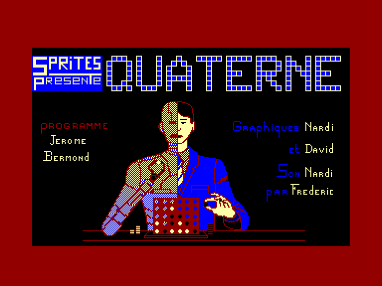screenshot of the Amstrad CPC game Quaterne