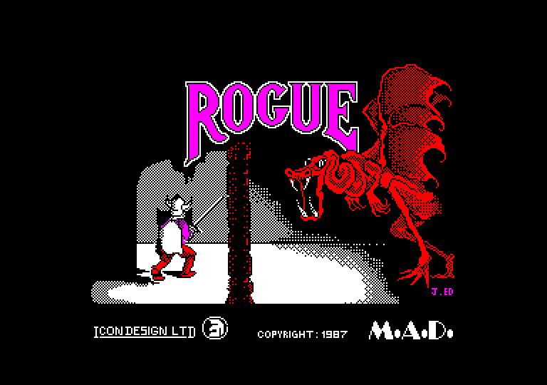 screenshot of the Amstrad CPC game Rogue