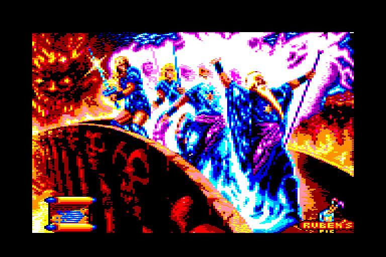 screenshot of the Amstrad CPC game Satan