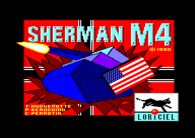 screenshot of the Amstrad CPC game Sherman M4