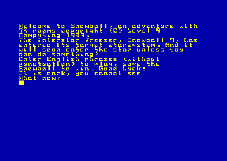 screenshot du jeu Amstrad CPC Snowball