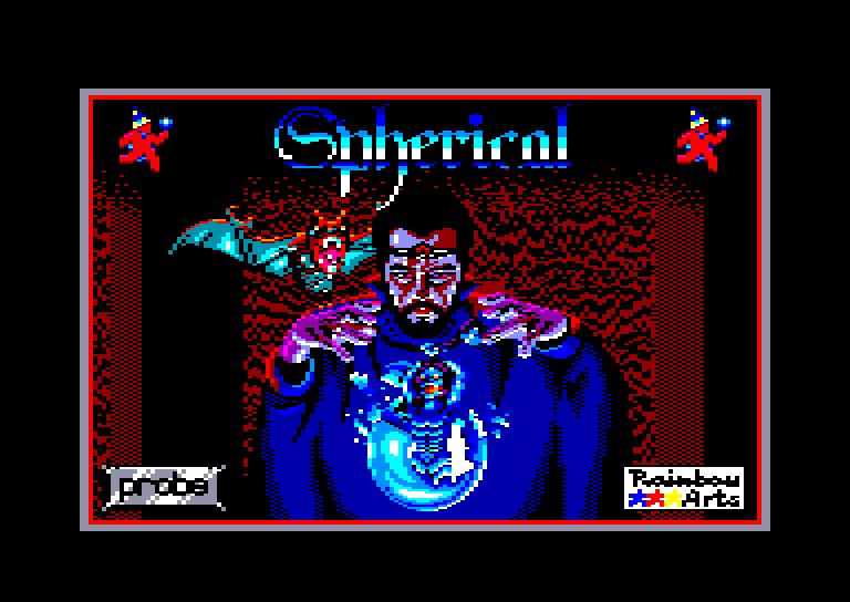 screenshot du jeu Amstrad CPC Spherical