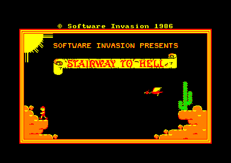screenshot du jeu Amstrad CPC Stairway to hell