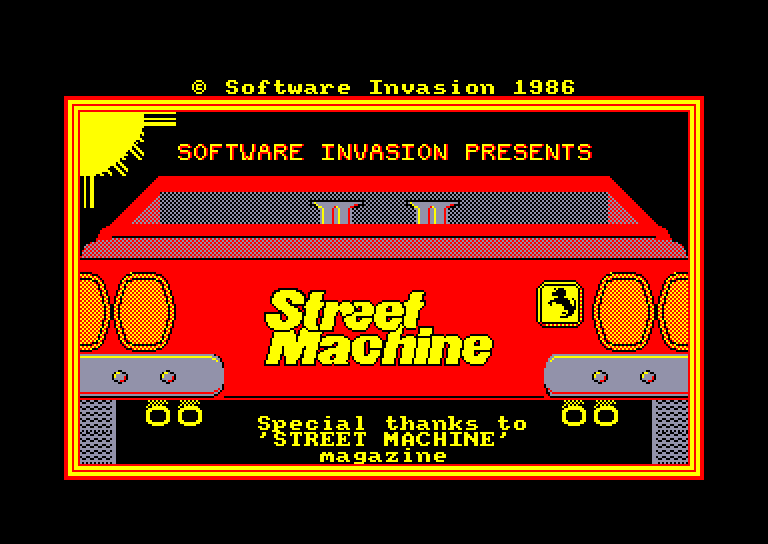 screenshot of the Amstrad CPC game Street machine