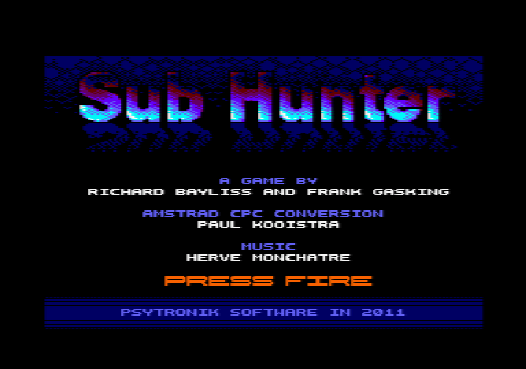 Sub Hunter menu screenshot