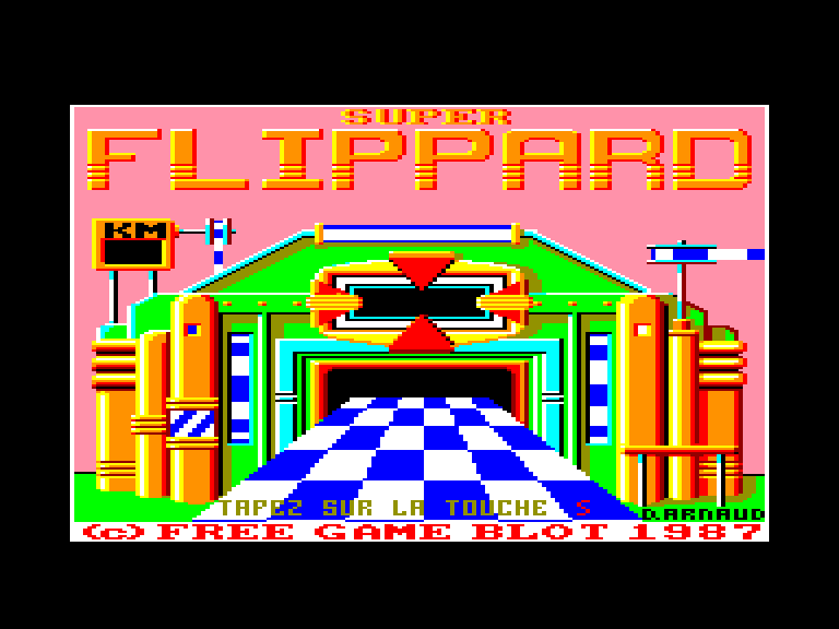 screenshot of the Amstrad CPC game Super Flippard