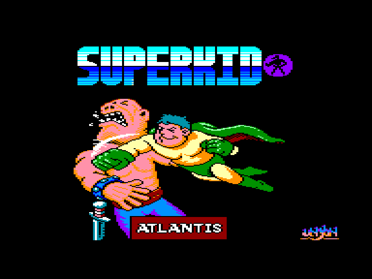 screenshot of the Amstrad CPC game Superkid