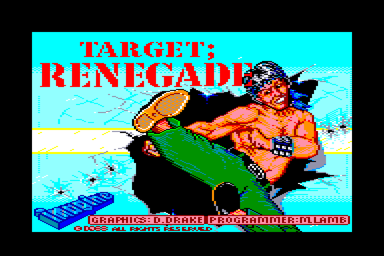 loading screen of the Amstrad CPC game Target Renegade