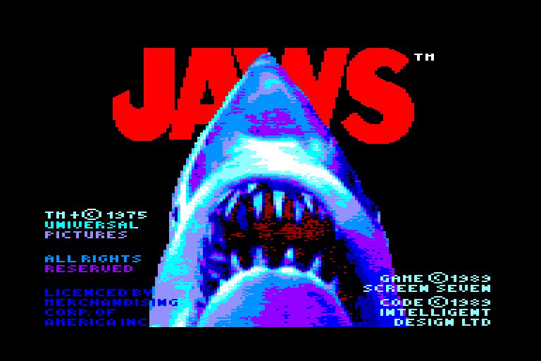 screenshot of the Amstrad CPC game Tiburon