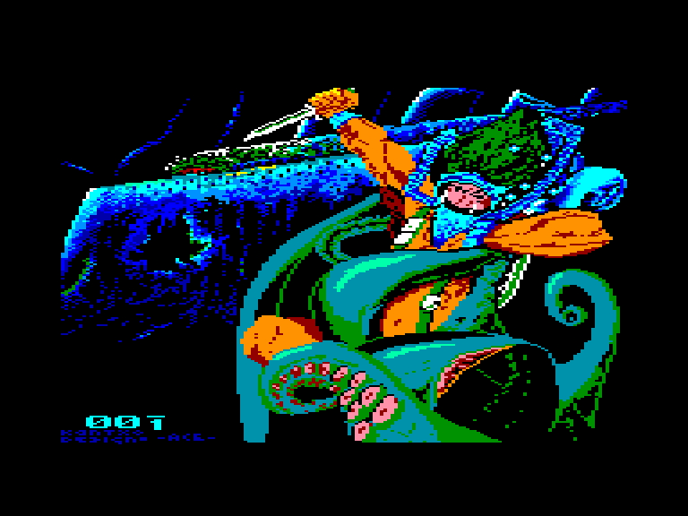 screenshot of the Amstrad CPC game Titanic