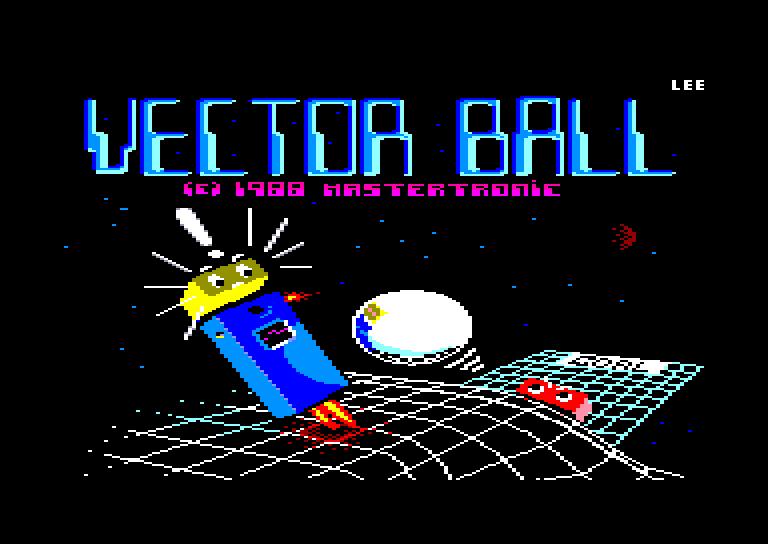 screenshot of the Amstrad CPC game Vector ball