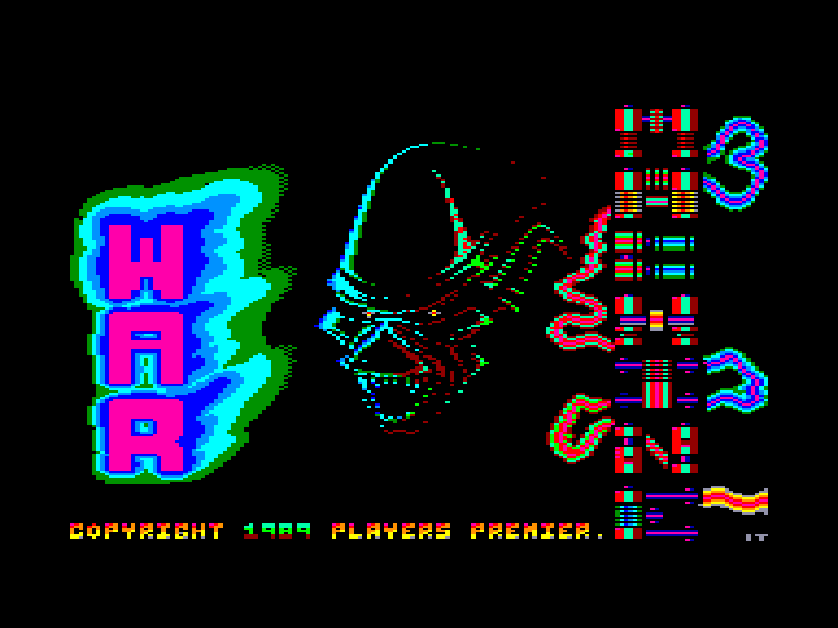 screenshot of the Amstrad CPC game War machine