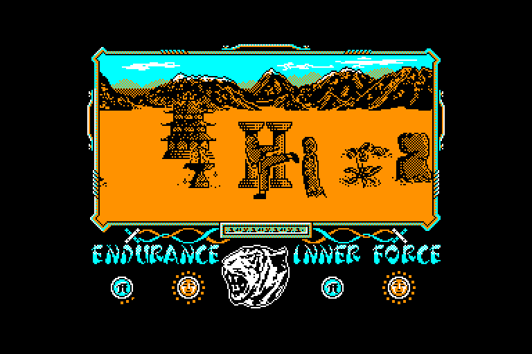 screenshot of the Amstrad CPC game Way of the tiger (the)